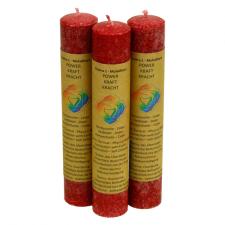 """Looduslik küünal """"Muladhara chakra - füüsiline jõud"""" 21x4 cm, lõhnastatud eeterlike õlidega"""