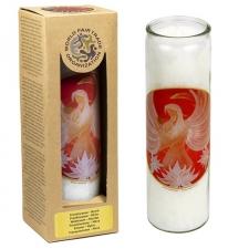 """Küünal klaasis """"Armastuse ingel lootoslillega"""" 21x6.5 cm, lõhnastatud eeterlike õlidega: frankincense, mürr"""