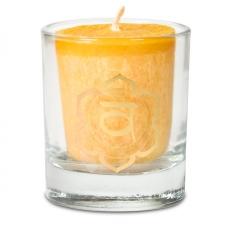 """Naturaalne lõhnaküünal klaasis""""Svadisthana"""" - nauding, seksuaalsus ja tunded"""" palmivahast 4,5x4 cm kinkekarbis"""