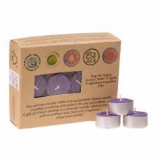 """Looduslikust steariinist teeküünlad """"Lavendel"""", kmpl 24 tk a 4x2 cm"""