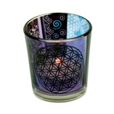 """Küünla klaas """"Elulill"""" 6x5 cm, kuumakindel"""