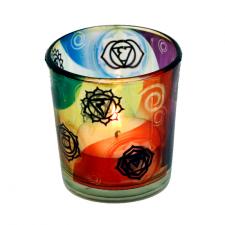 """Küünla klaas """"Chakrad"""" 6x5 cm, kuumakindel"""