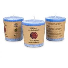 "Naturaalne lõhnaküünal ""1001 ööd"" 4,5x4 cm, sandlipuu, mürr, ingver, vanilje"