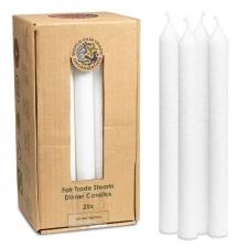 Looduslikust steariinist küünal pikk valge 32x2cm, lõhnavaba