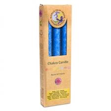 """Looduslik küünal """"Vishudi chakra– looming"""" 21x2.2 cm, kmpl 3tk, lõhnastatud eeterlike õlidega"""