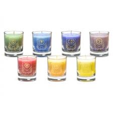"""Naturaalne imeliselt sädelev lõhnaküünalde komplekt """"Ingliküünlad klaasis"""" steariinist 4,5x4 cm"""