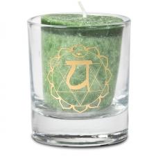 """Naturaalne lõhnaküünal klaasis """"Anahata – armastus"""" 4,5x4 cm kinkekarbis"""