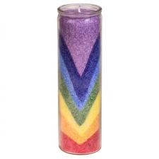 """Küünal klaasis """"7 chakra lained"""" 21x6.5cm, kuslapuu ja seeder"""