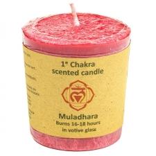 """Naturaalne lõhnaküünal """"Muladhara chakra - füüsiline jõud"""" 4,5x4 cm"""