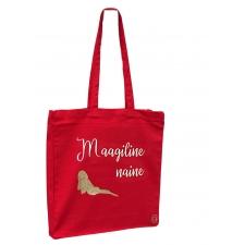 Poekott MAAGILINE NAINE 38x10x42 suur küljevoldiga, 100% puuvill