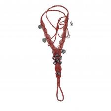 Roosad barefootid pärlite ja lootoselilledega, mikromakramee käsitöö