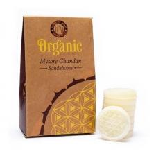 Aroomiteraapiline sojavaha Organic Sandlipuu- Mysore Chandan aroomilampidesse